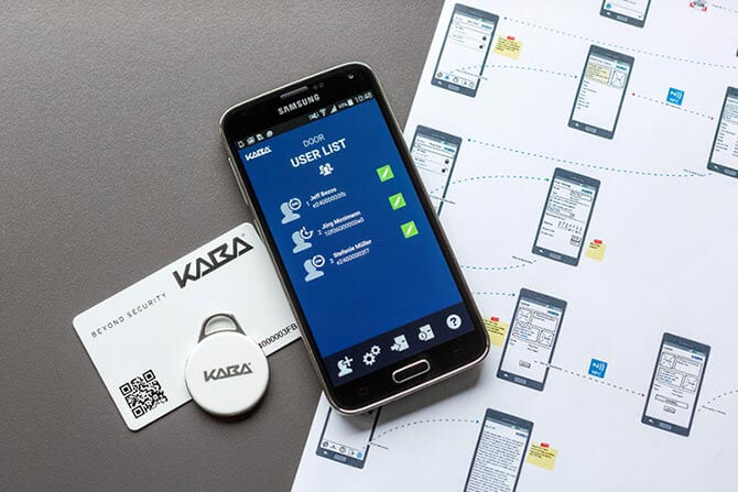 Kaba smart App mit Badge