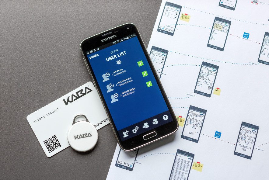 Kaba smart app with keycard